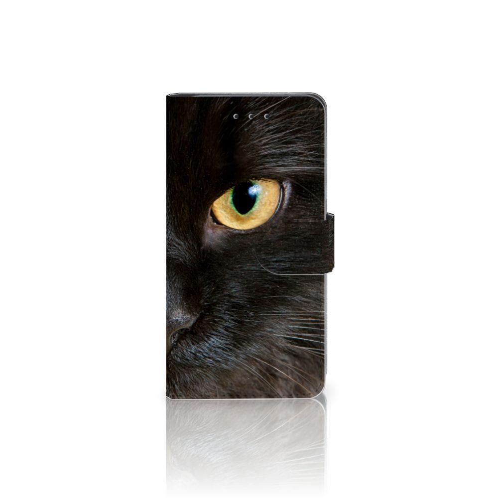 HTC U11 Uniek Boekhoesje Zwarte Kat
