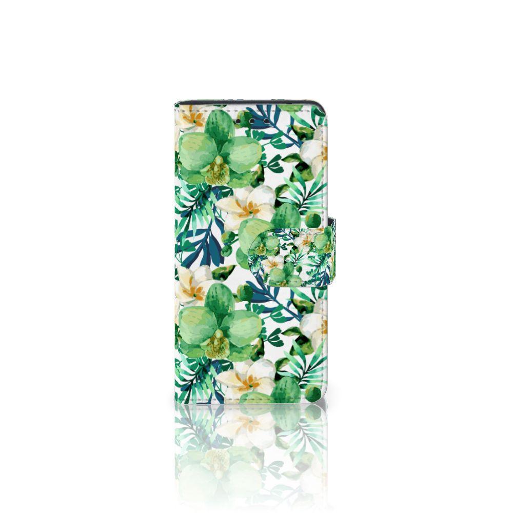 Samsung Galaxy S5 Mini Uniek Boekhoesje Orchidee Groen