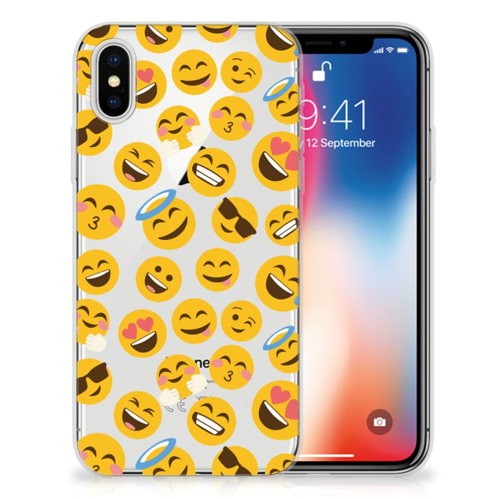 Apple iPhone X | Xs TPU Hoesje Design Emoji