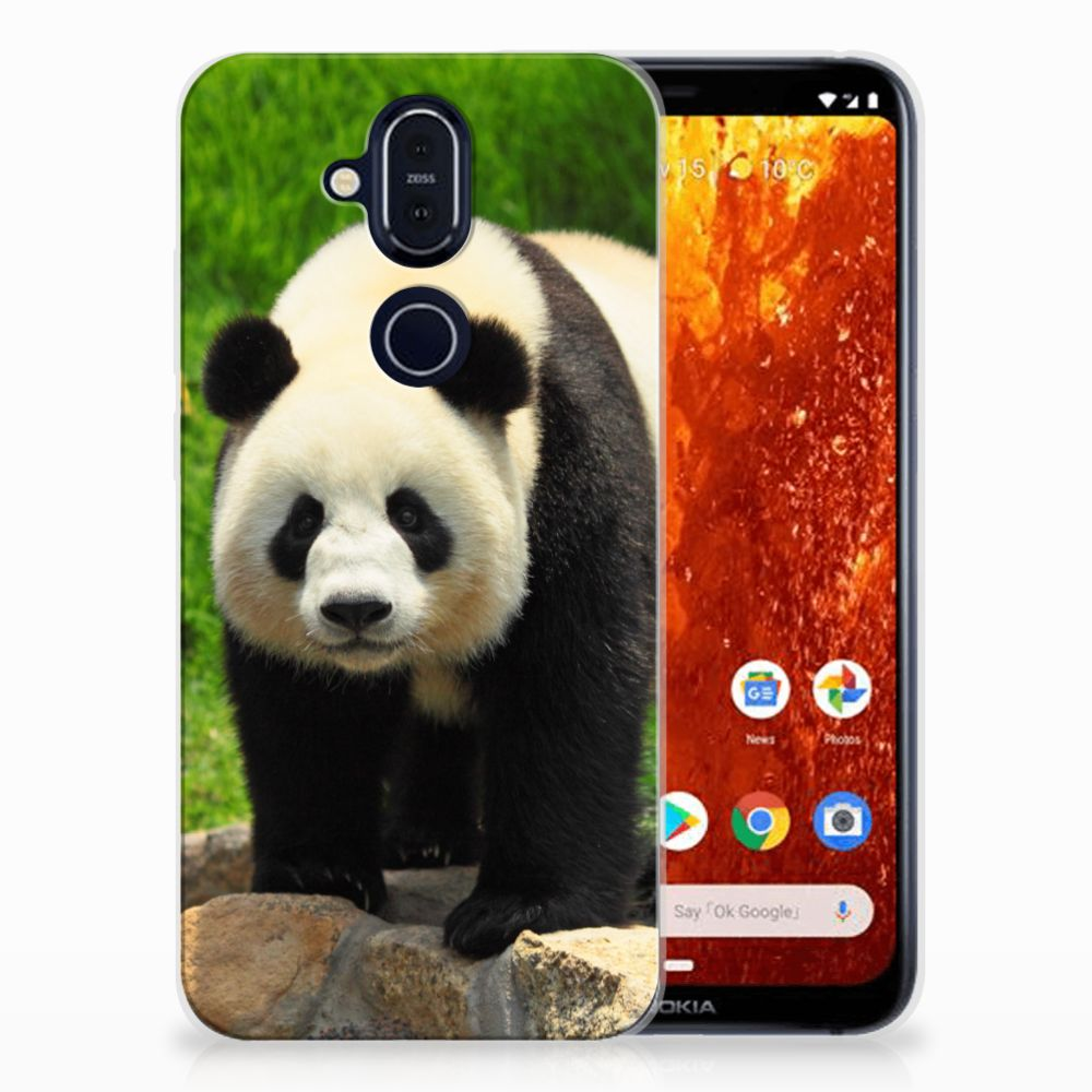 Nokia 8.1 TPU Hoesje Panda
