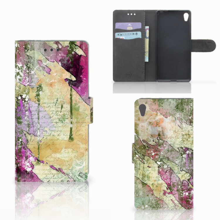 Hoesje Sony Xperia E5 Letter Painting