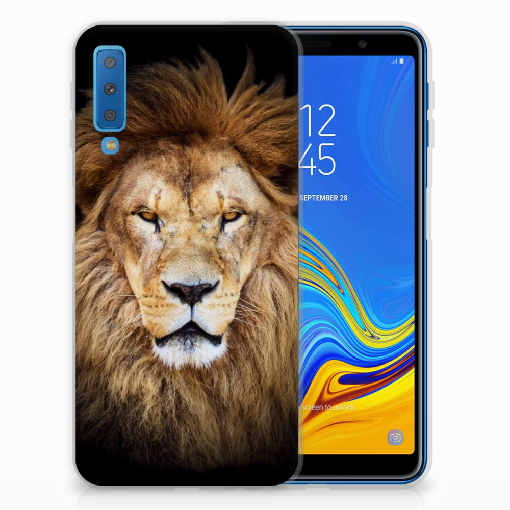 Samsung Galaxy A7 (2018) Leuk Hoesje Leeuw