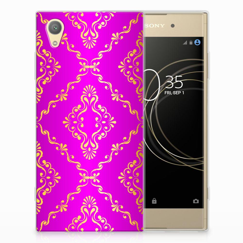 Siliconen Hoesje Sony Xperia XA1 Plus Barok Roze