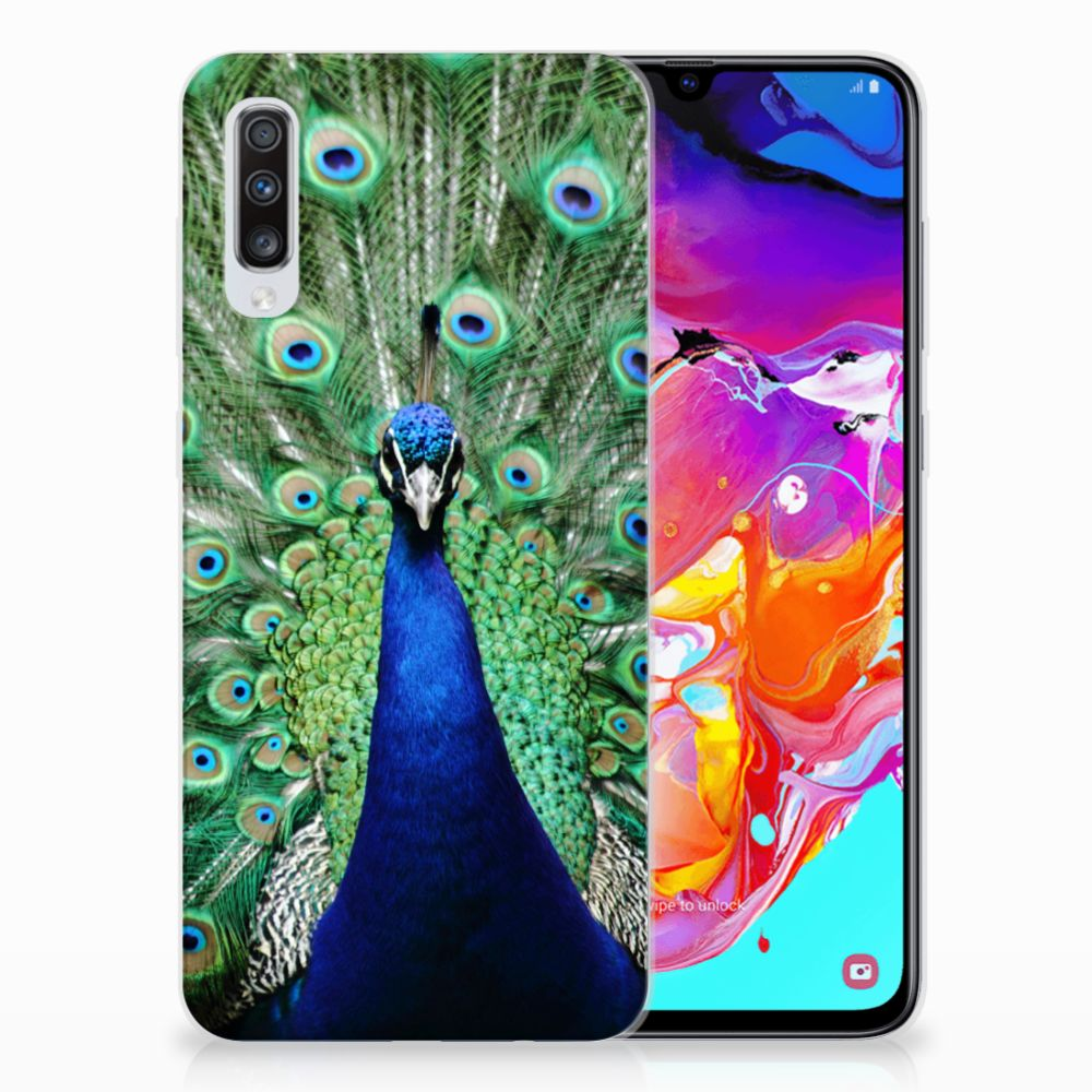 Samsung Galaxy A70 TPU Hoesje Pauw