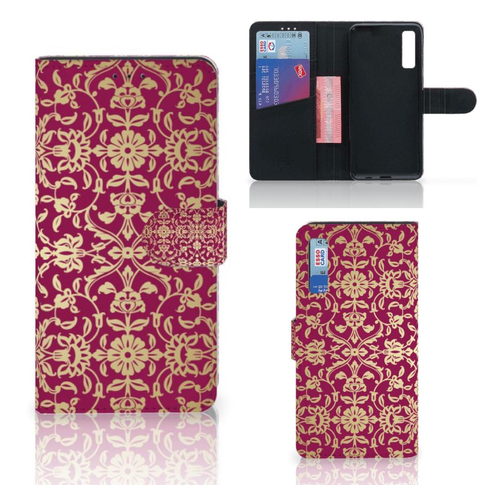 Wallet Case Samsung Galaxy A7 (2018) Barok Pink