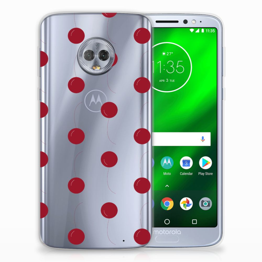 Motorola Moto G6 Plus Siliconen Case Cherries