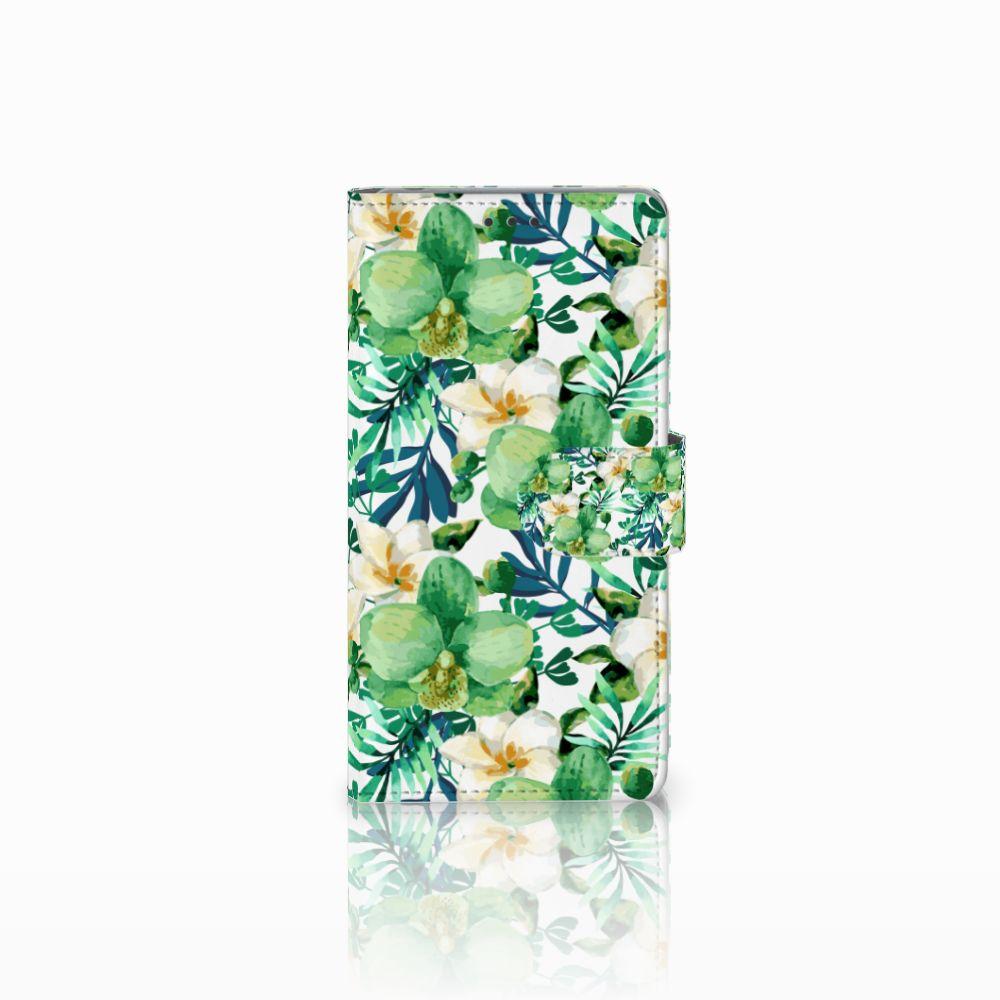 Sony Xperia Z Uniek Boekhoesje Orchidee Groen