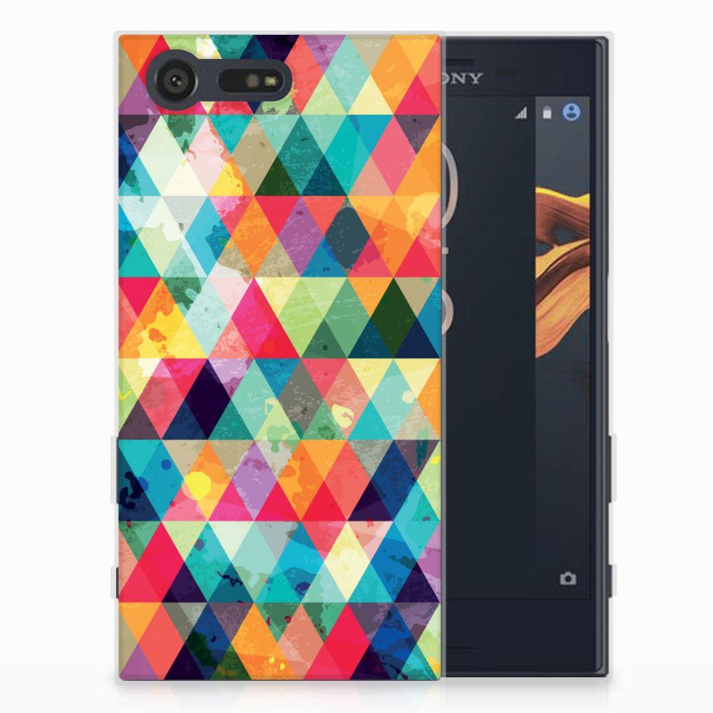 Sony Xperia X Compact Uniek TPU Hoesje Geruit