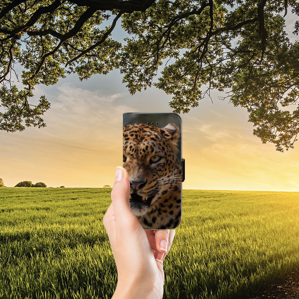 iPhone 7 | 8 | SE (2020) Telefoonhoesje met Pasjes Luipaard