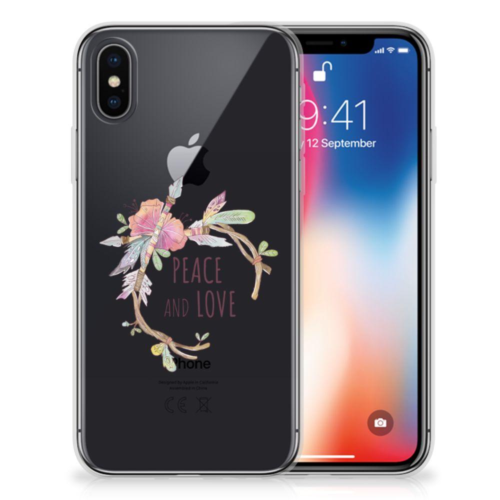 Apple iPhone X | Xs Telefoonhoesje met Naam Boho Text