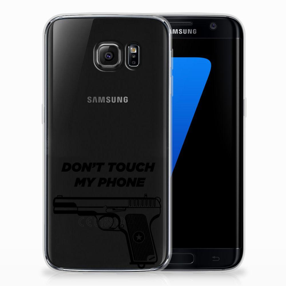 Samsung Galaxy S7 Edge Uniek TPU Hoesje Pistol DTMP