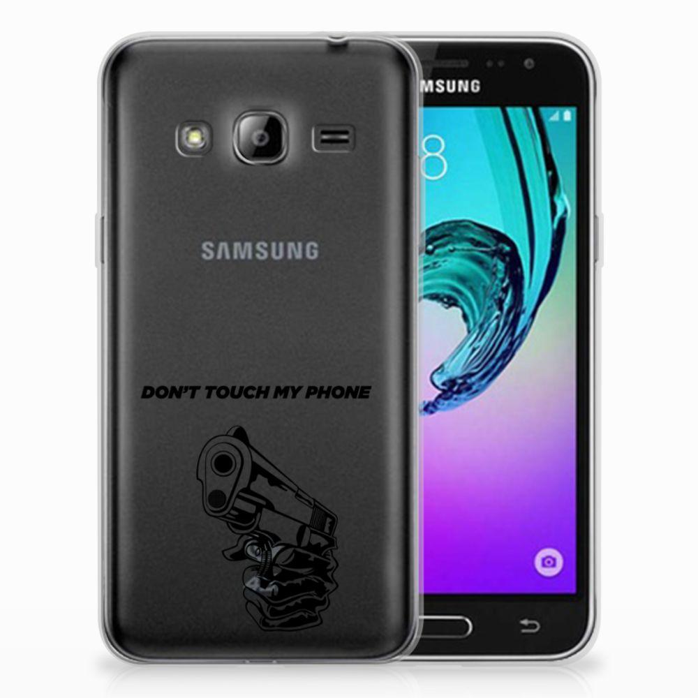 Samsung Galaxy J3 2016 Uniek TPU Hoesje Gun DTMP