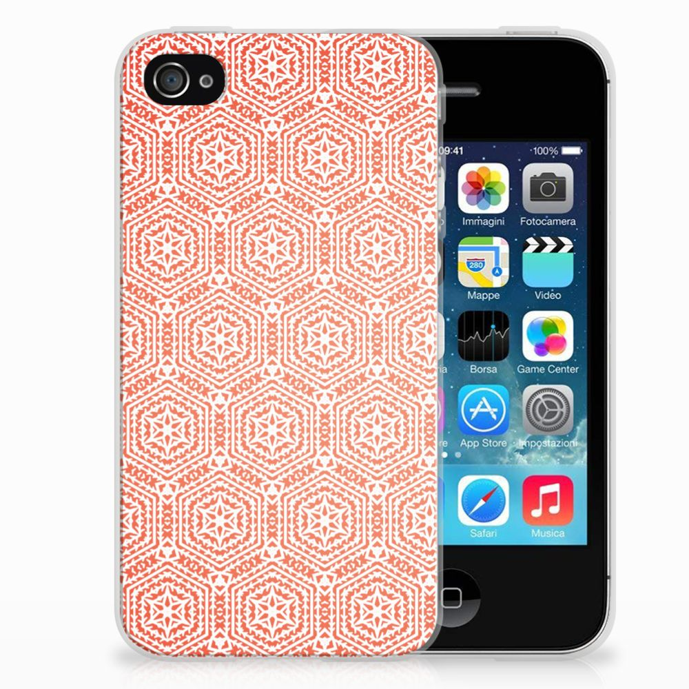 Apple iPhone 4 | 4s TPU bumper Pattern Orange