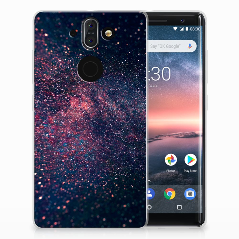 Nokia 9 | 8 Sirocco TPU Hoesje Stars