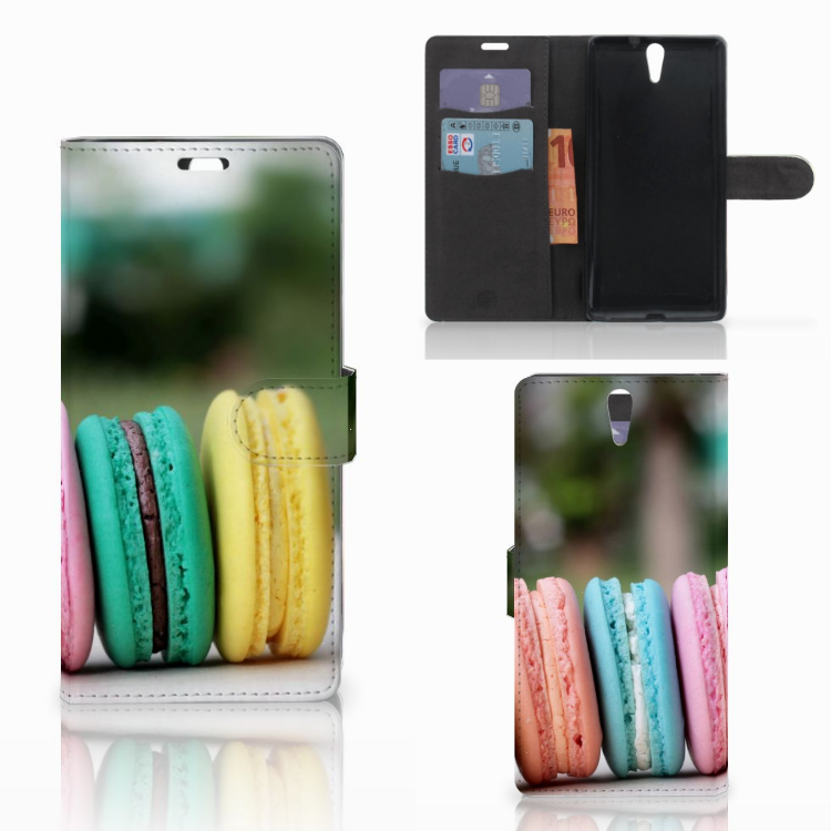 Sony Xperia C5 Ultra Book Cover Macarons