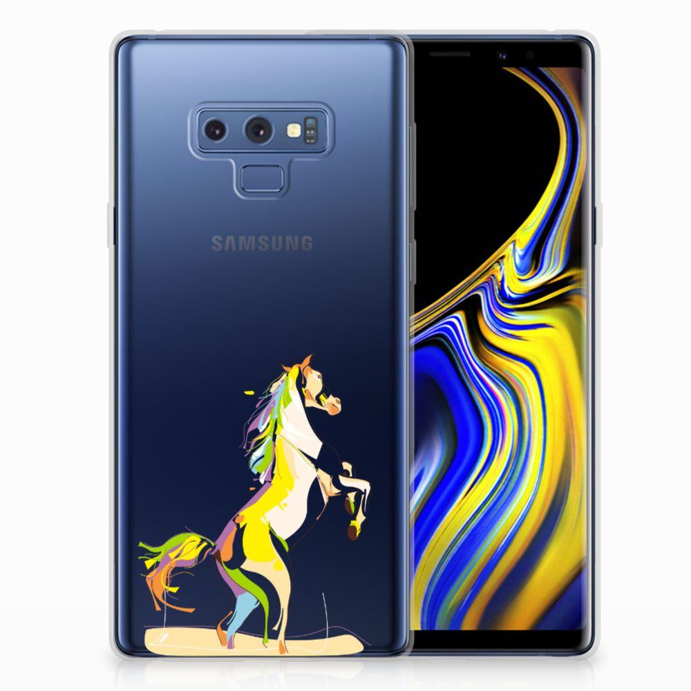 Samsung Galaxy Note 9 Telefoonhoesje met Naam Horse Color
