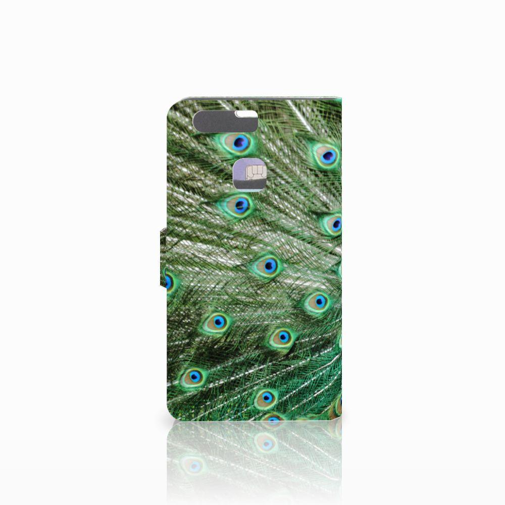 Huawei P9 Plus Telefoonhoesje met Pasjes Pauw