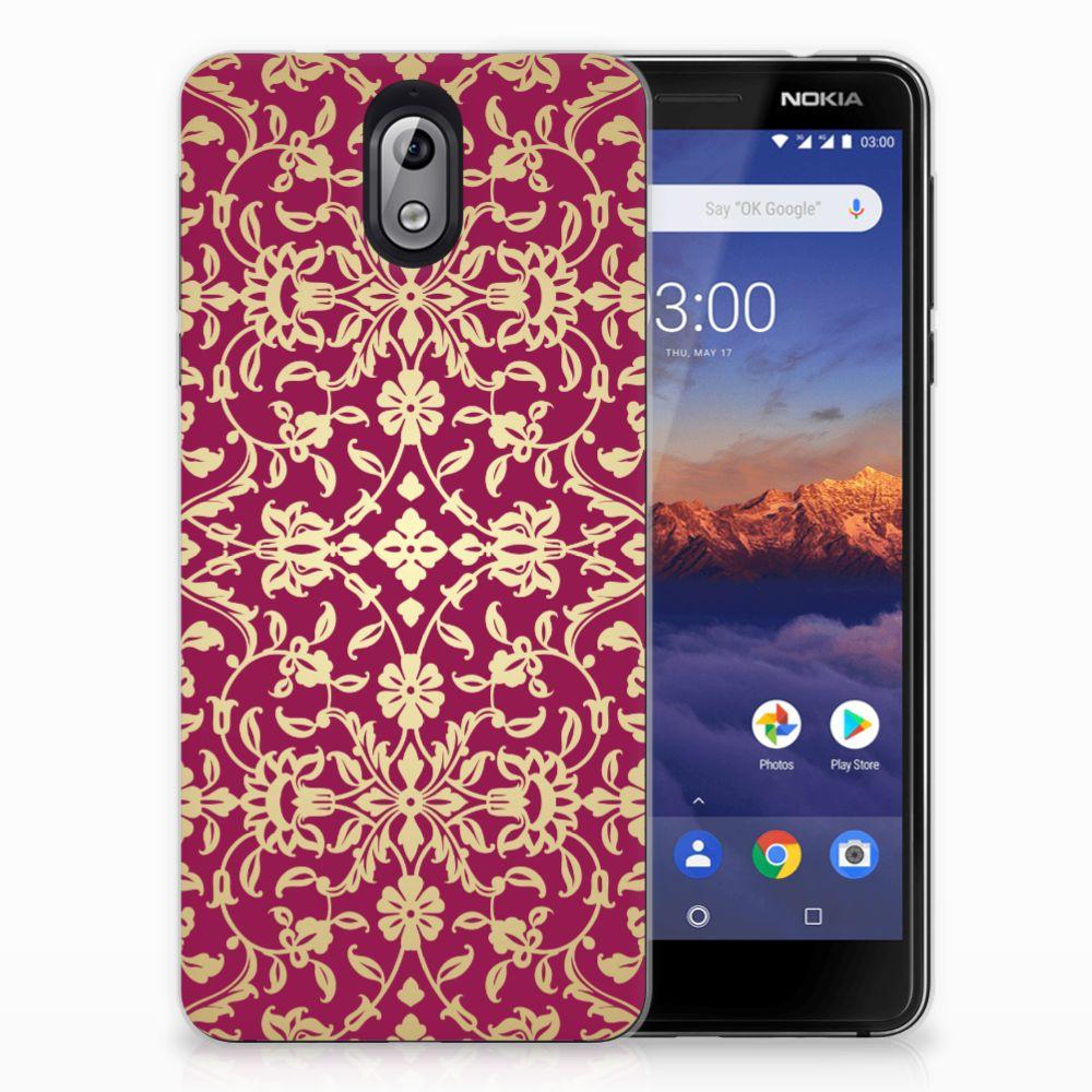 Siliconen Hoesje Nokia 3.1 (2018) Barok Pink