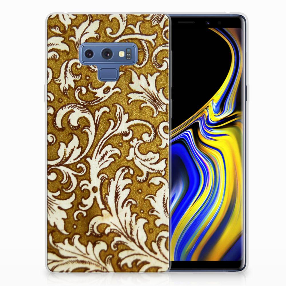 Siliconen Hoesje Samsung Galaxy Note 9 Barok Goud
