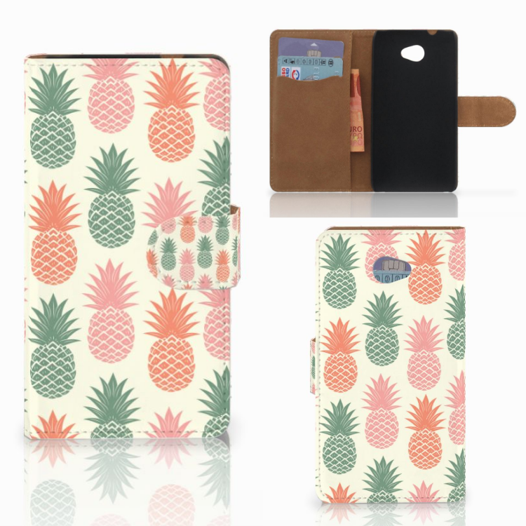 HTC Desire 601 Book Cover Ananas