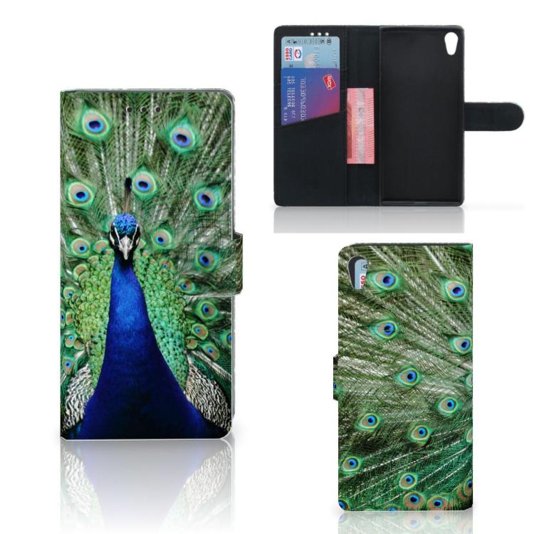 Sony Xperia XA1 Ultra Telefoonhoesje met Pasjes Pauw
