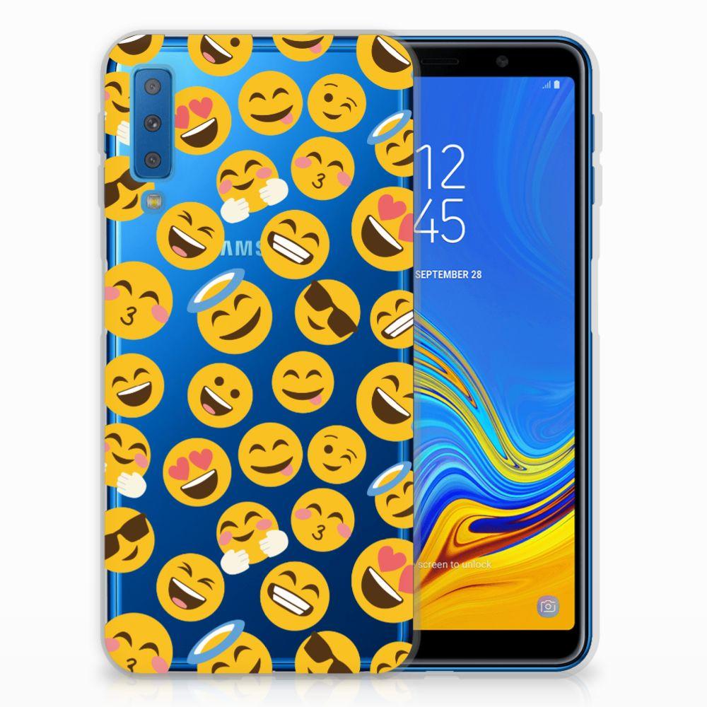 Samsung Galaxy A7 (2018) TPU bumper Emoji