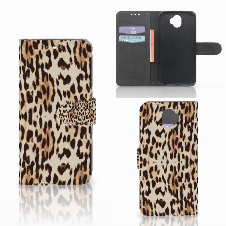 Wiko Wim Telefoonhoesje met Pasjes Leopard