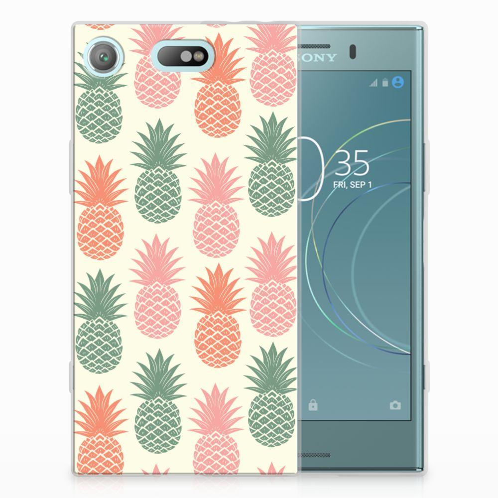 Sony Xperia XZ1 Compact Siliconen Case Ananas
