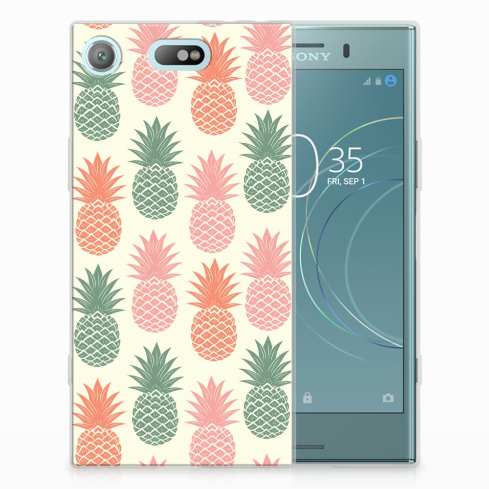 Sony Xperia XZ1 Compact TPU Hoesje Design Ananas