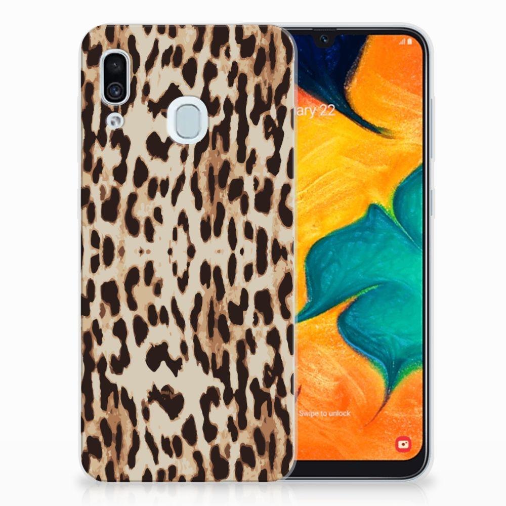 Samsung Galaxy A30 TPU Hoesje Leopard