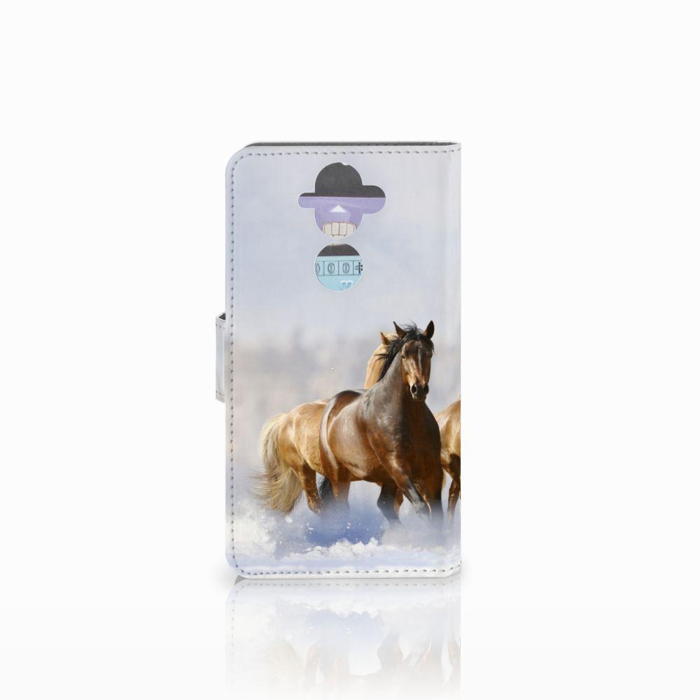 Nokia 8 Sirocco   Nokia 9 Telefoonhoesje met Pasjes Paarden