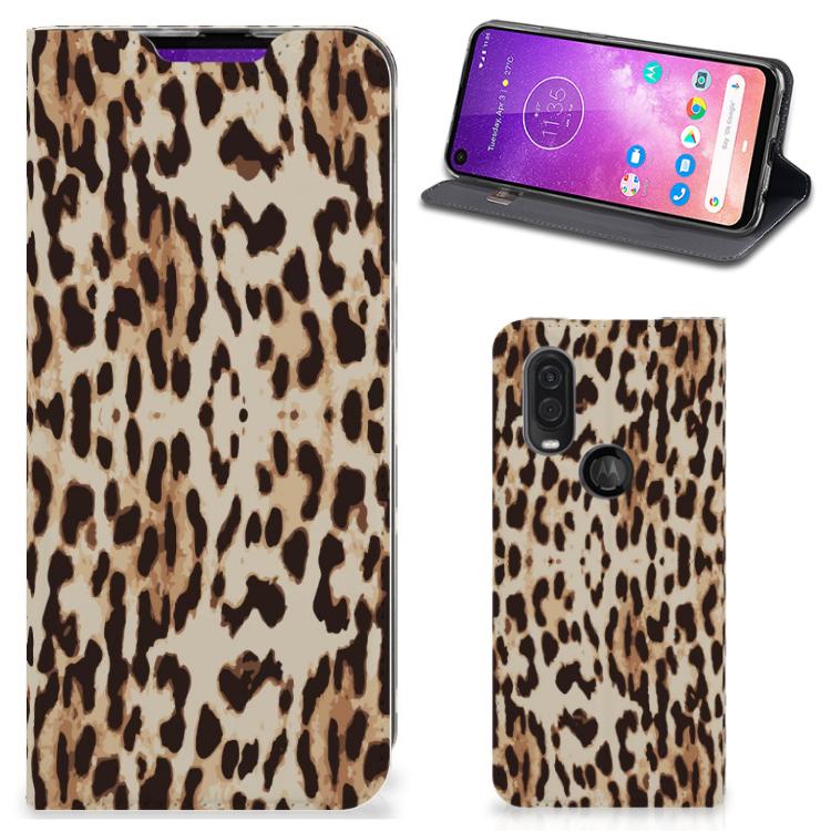 Motorola One Vision Hoesje maken Leopard