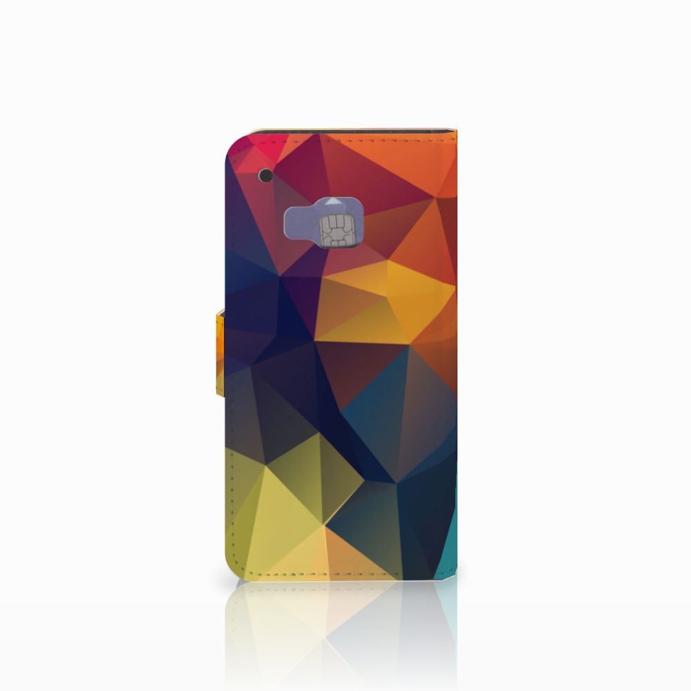 HTC One M9 Bookcase Polygon Color