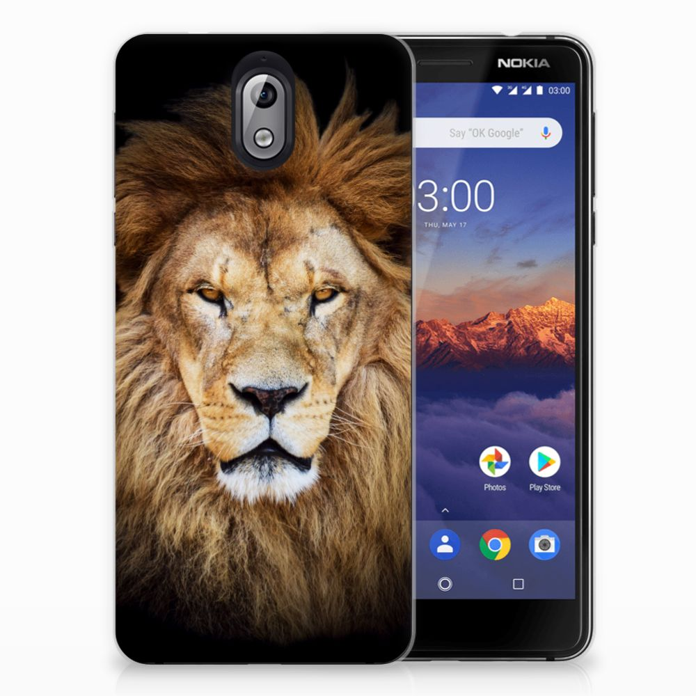 Nokia 3.1 (2018) TPU Hoesje Leeuw