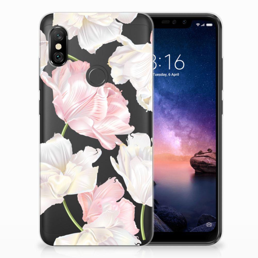Xiaomi Redmi Note 6 Pro TPU Hoesje Design Lovely Flowers