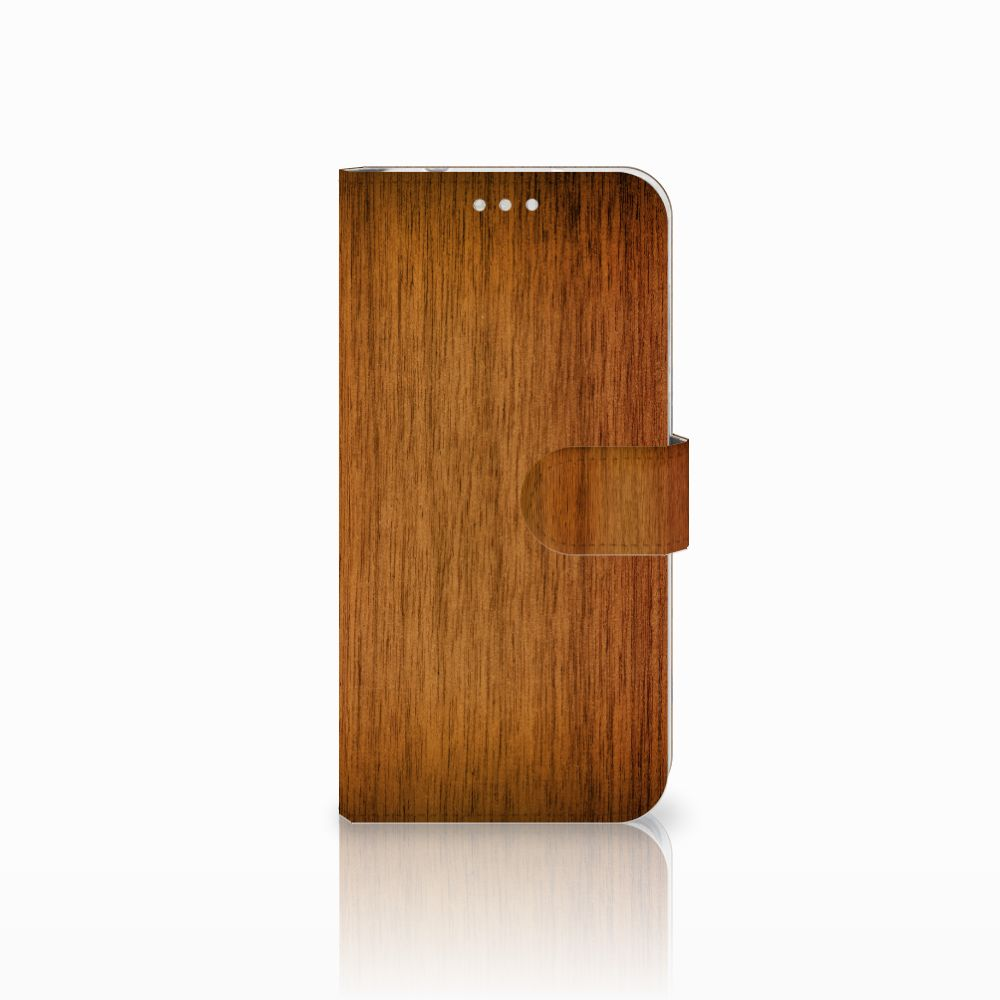 Huawei P20 Pro Uniek Boekhoesje Donker Hout