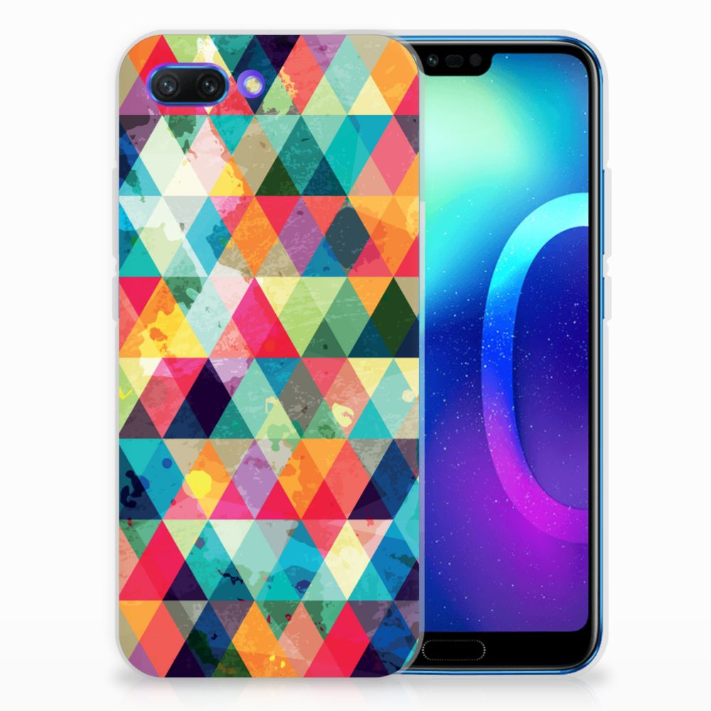 Huawei Honor 10 Uniek TPU Hoesje Geruit