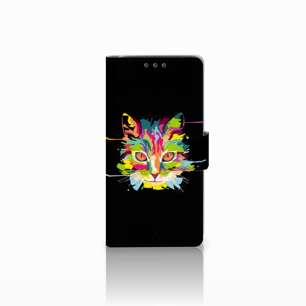 HTC Desire 626 | Desire 626s Uniek Boekhoesje Cat Color