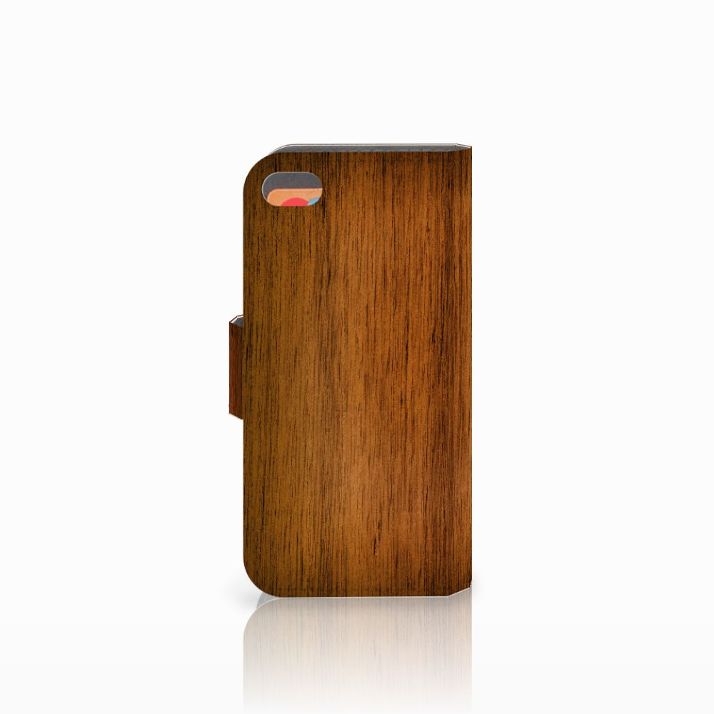 Apple iPhone 5C Book Style Case Donker Hout