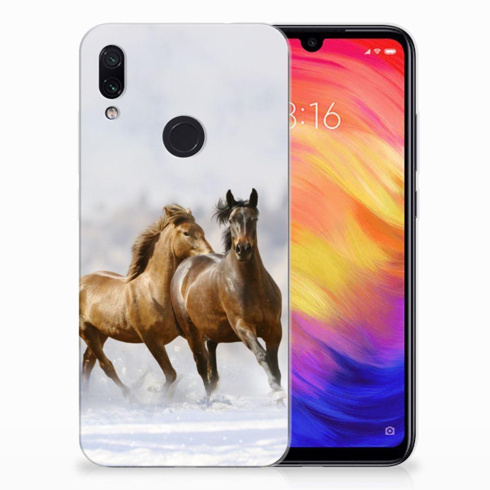 Xiaomi Redmi Note 7 Leuk Hoesje Paarden