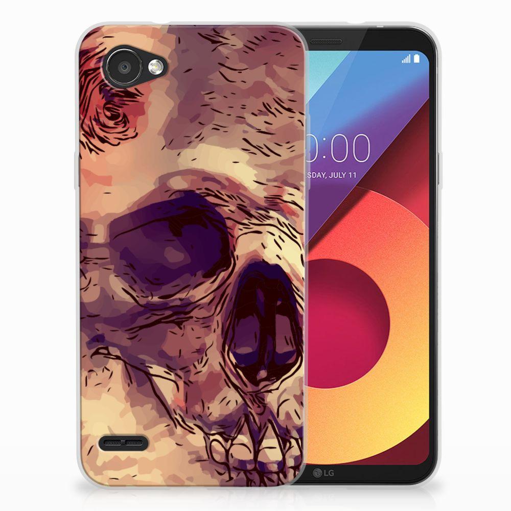 Silicone Back Case LG Q6   LG Q6 Plus Skullhead