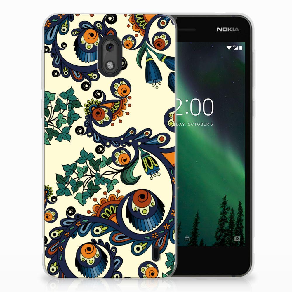 Siliconen Hoesje Nokia 2 Barok Flower