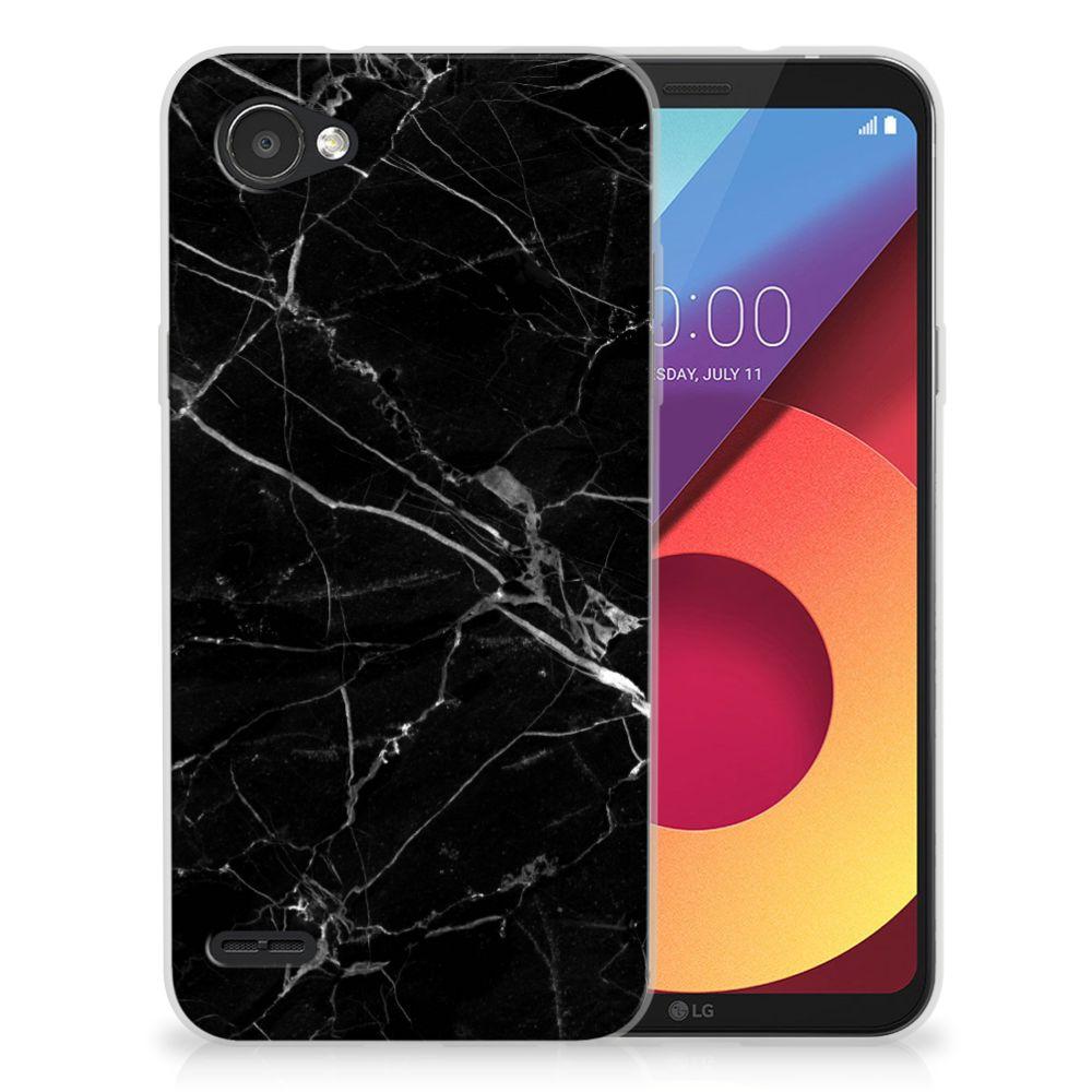 LG Q6 | LG Q6 Plus Uniek TPU Hoesje Marmer Zwart