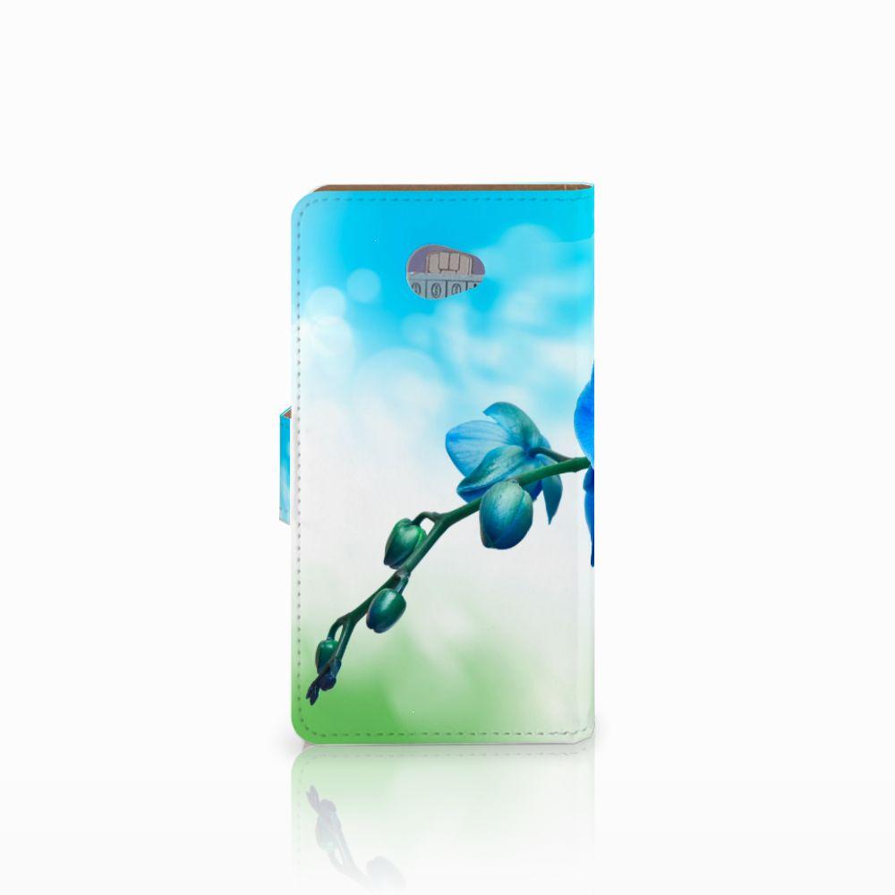 HTC Desire 601 Hoesje Orchidee Blauw