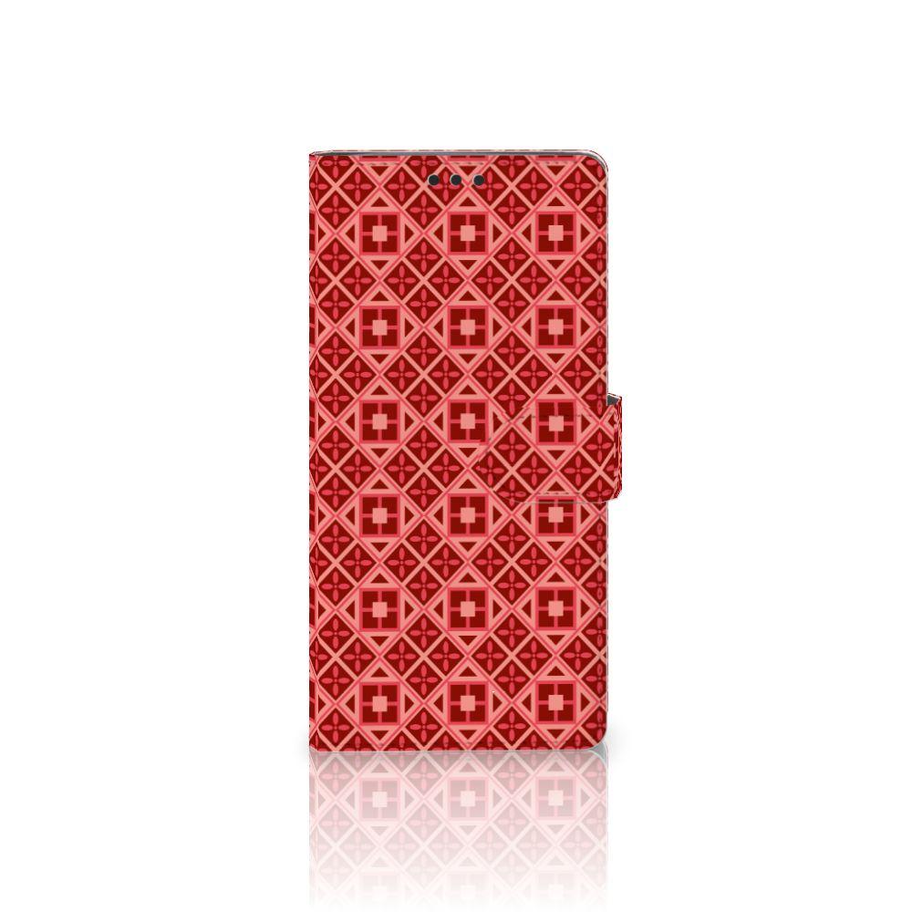 Sony Xperia XA Ultra Uniek Boekhoesje Batik Red