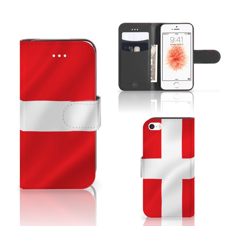 Apple iPhone 5 | 5s | SE Bookstyle Case Denemarken