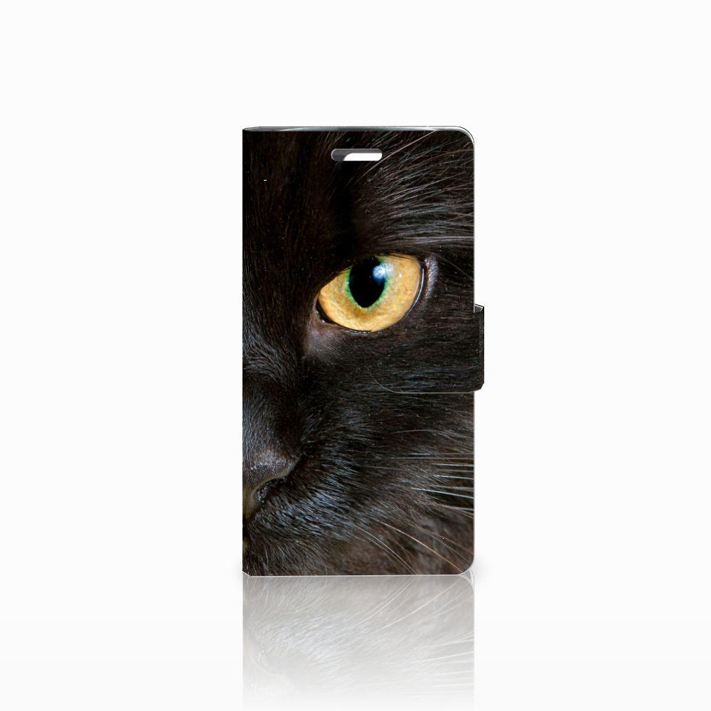 LG K10 2015 Uniek Boekhoesje Zwarte Kat