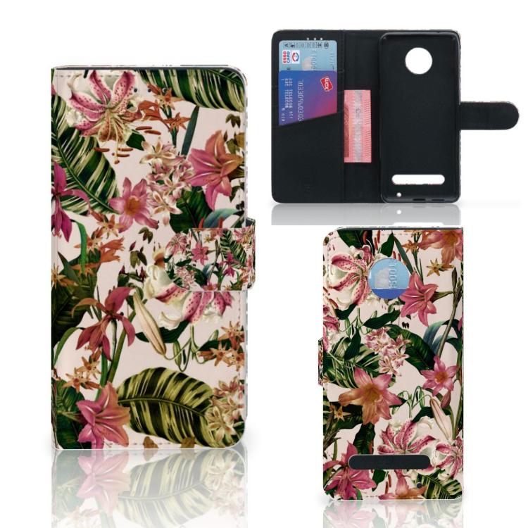 Motorola Moto Z2 Play Hoesje Flowers