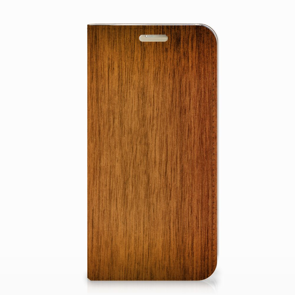 Samsung Galaxy A3 2017 Book Wallet Case Donker Hout