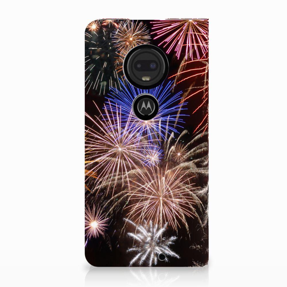 Motorola Moto G7 | G7 Plus Standcase Hoesje Design Vuurwerk